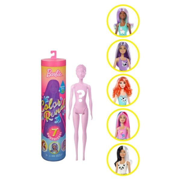 Muñeca Barbie Color Reveal Rosada con 7 Sorpresas