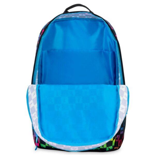 Fortnite School Backpack Black Multicolor Checkered