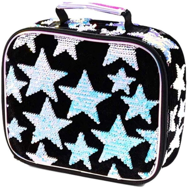 Justice Stars Sequined School Lunch Box