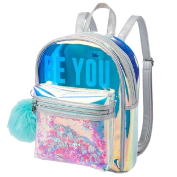 Justice Mini Backpack Be You Shaky Clear