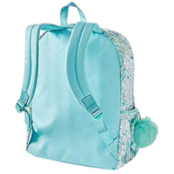 Justice Shaky Turquoise Unicorn Backpack with Sequins