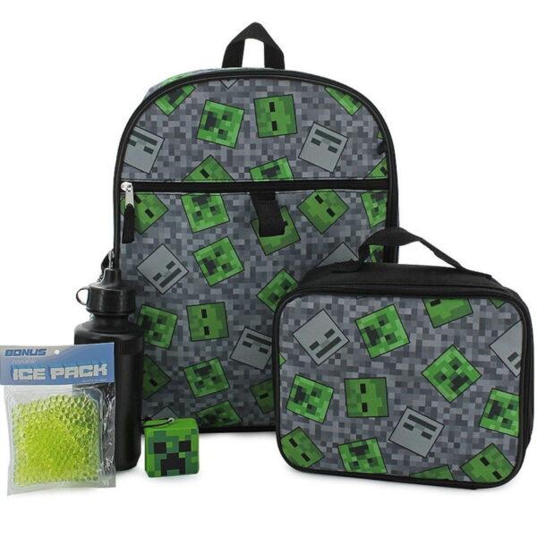 Minecraft Schooll Backpack Set 5 Pieces