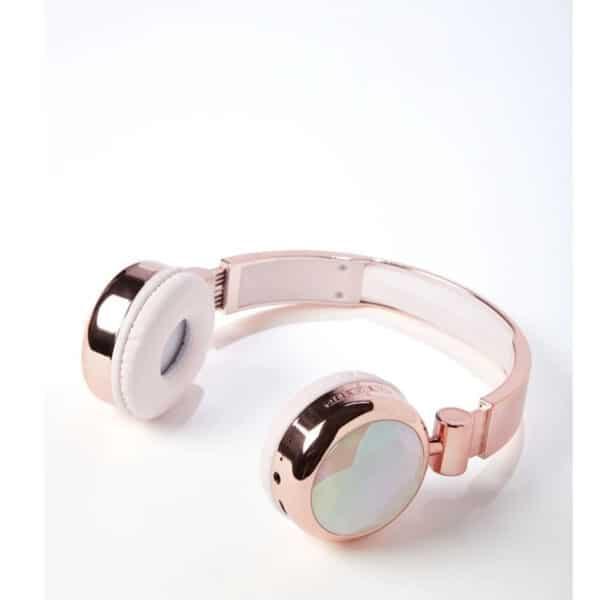 Justice Sleek Sound Bluetooth Headphones Crystal Pink