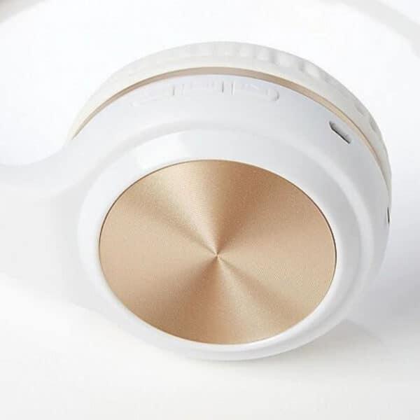 Justice Sleek Sound Audífonos Bluetooth Blanco y Dorado