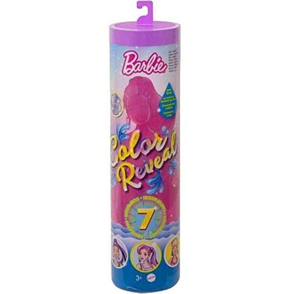Barbie Color Reveal 7 Surprises Morada, Serie Brillante