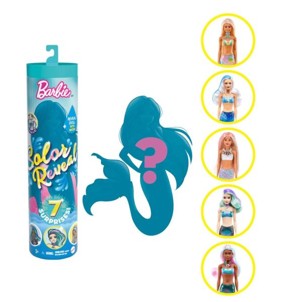 Barbie Color Reveal 7 Sorpresas Serie Sirena