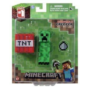 Minecraft Core Creeper, Figura De Accion Con Accesorio 2.75 Pulgadas