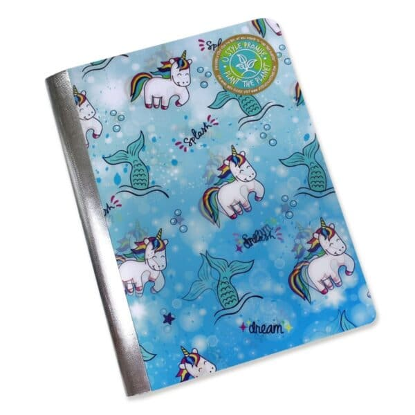 3 Pcs, U Style Unicorn Magic Composition Book, 100 Sheets, Colors Vary