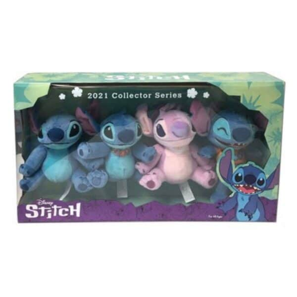 Disney 2021 Stitch Collector Series Plush Doll Figures 4-Pack Set Toy Kids Collectible