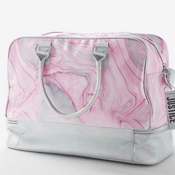 Justice Girls Marble Shine Duffle Travel