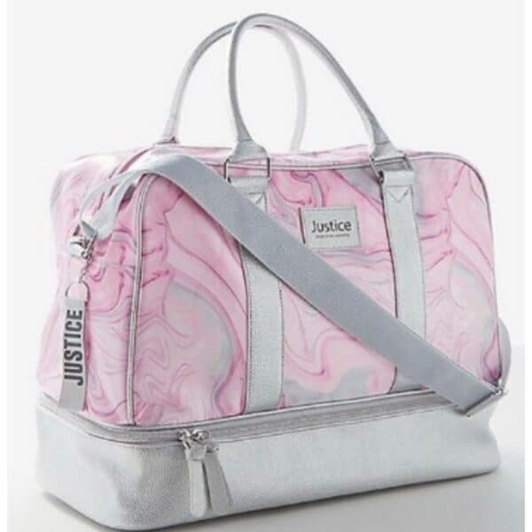 Justice Girls Marble Shine Duffle Travel 2