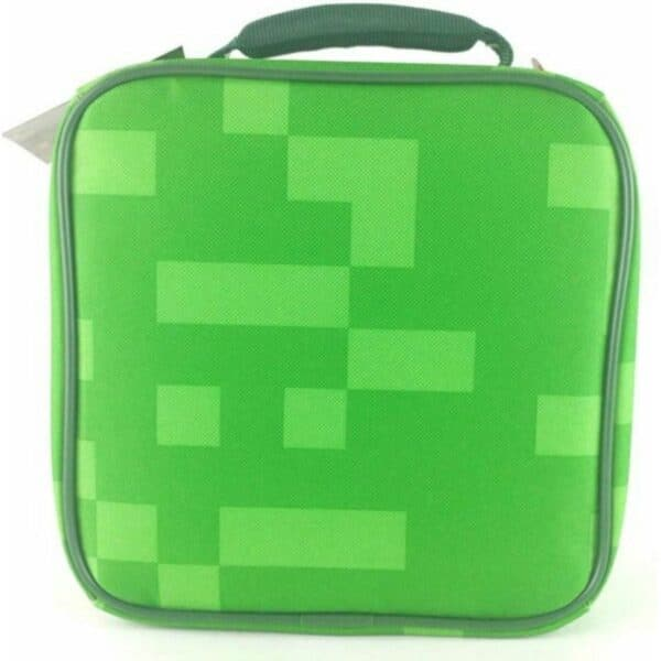 Thermos Minecraft Cube Tote Lunch Box Bag Kids Insulated Container Food Student School