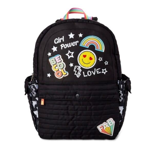 Wonder Nation Girl Power Kids Black Backpack