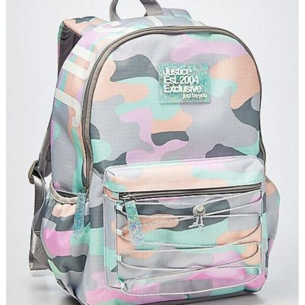 Justice Pastel Camo Backpack