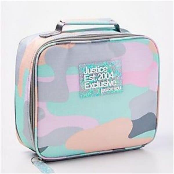 Justice Pastel Camo Lunch Box