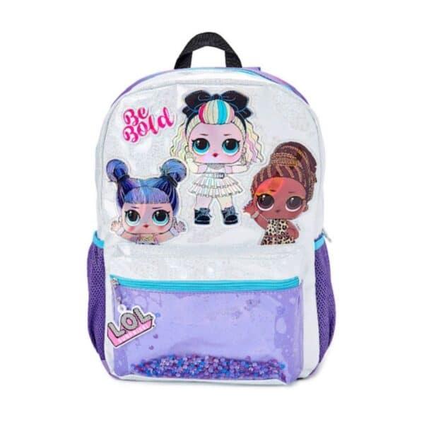 Lol Surprise Girls Be Bold Glitter Purple Backpack