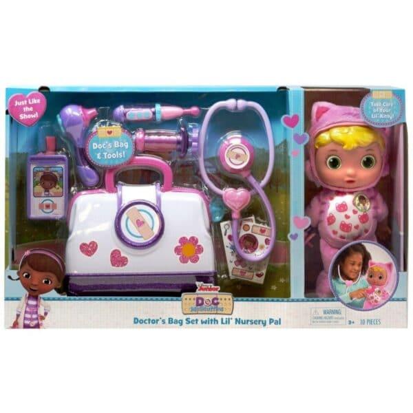 Disney Junior Doc McStuffins Lil' Nursery Pal and Toy Hospital Doctor's Bag Set