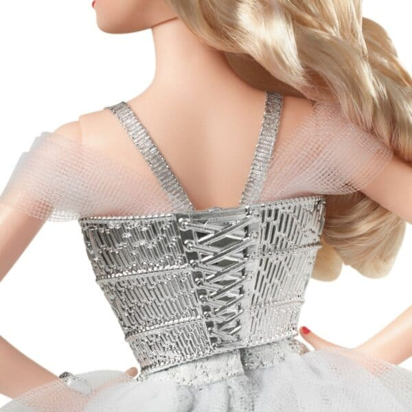 Barbie Signature 2021 Holiday Barbie Doll (12-Inch, Blonde Wavy Hair) In Silver Gown