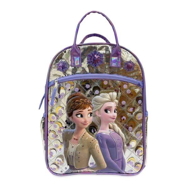 Disney Frozen 2 Girls' Top Handle Purple Backpack