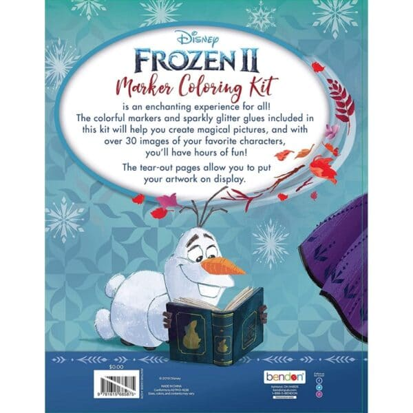 Disney's Frozen 2 Elsa and Anna Marker Coloring Kit with Glitter Glue Tubes Bendon